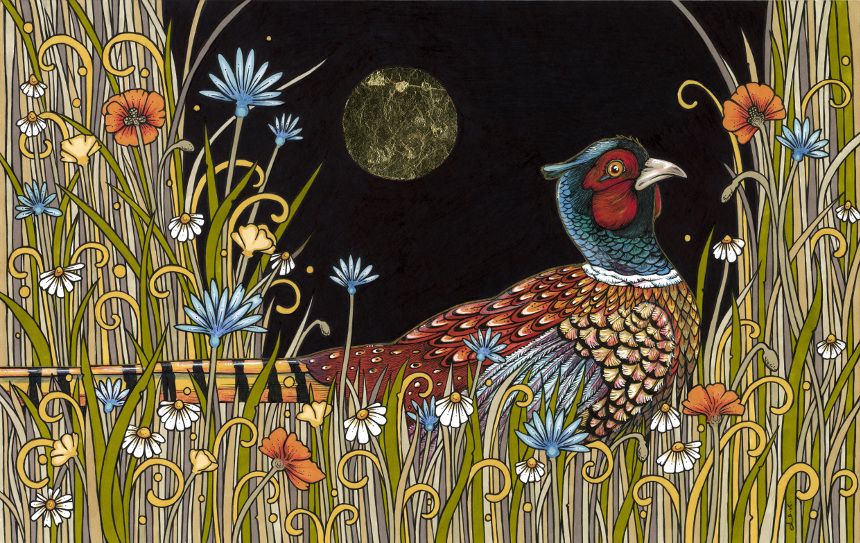Midnight Meadow by Anita Inverarity; for more information, visit https://www.etsy.com/shop/AnitaInverarity