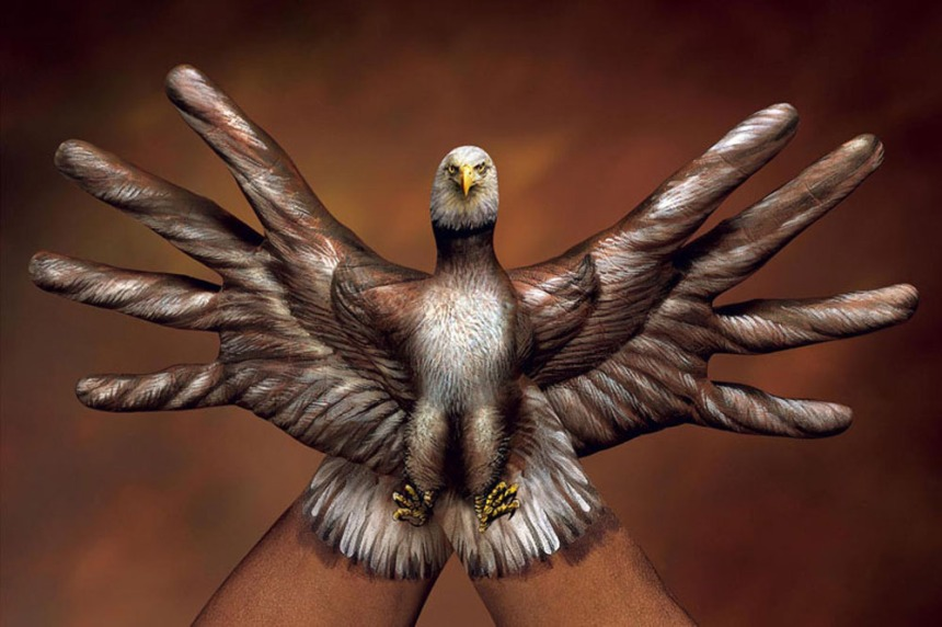 """""""2 Hands Bald Eagle"""" by Guido Daniele; for more information, visit  www.guidodaniele.com"""