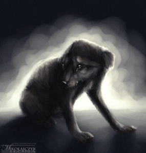 Sad Puppy by Ilona Mikołajczyk; for more information, visit http://safiru.deviantart.com/