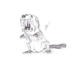 Evil Beaver by  Jonathan Rechin; for more information, visit  http://crazychaoscommmander.deviantart.com/