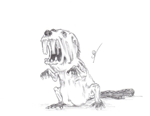 Evil Beaver by  Jonathan Rechin; for more information, visit  http://crazychaoscommmander.deviantart.com/
