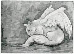 Angel Cat by  Kirsi Lehtosaari; for more information, visit  https://www.facebook.com/ZyriFrost