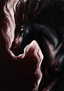 Corrupted Horse by Laura Bevon; for more information, visit http://laurabevon.deviantart.com/