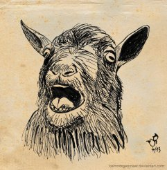 Goat by Kain Morgenmeer; for more information, visit https://www.facebook.com/kainmorgenmeer