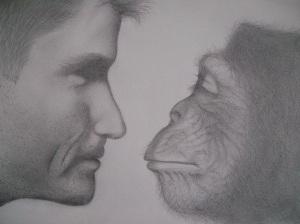 Man vs Monkey by Kremena; for more information, visit http://extraordinary632.deviantart.com/
