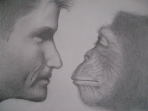 Man vs Monkey by Kremena; for more information, visit  http://extraordinary632.deviantart.com/
