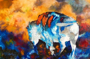 White Buffalo by Karen Chatham; for more information, visit http://karen-kennedy-chatham.artistwebsites.com/