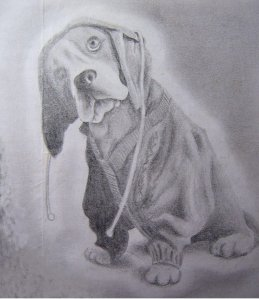 Sad Dog by Janis; for more information, visit http://yancis.deviantart.com/
