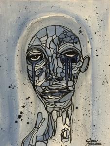 Blue Girl by Julie Steiner; for more information, visit https://www.etsy.com/shop/OutsideTheBoxArt