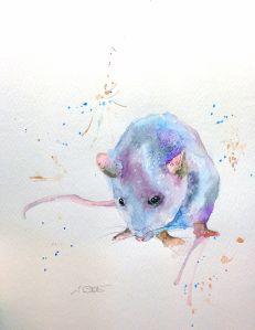 Little Blue Mouse by Sarah White ; for more information, visit https://www.etsy.com/uk/shop/ArtbySarahWhite
