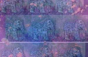 """The Painter's Elephant Herd"" by Christine Stoddard; for more information, visit http://worldofchristinestoddard.com"