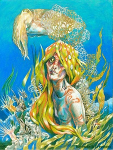 """Coral Mermaid"" by Lara Smith; for more information, visit www.ravendarkcreations.com"